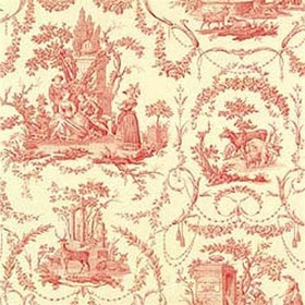 Thibaut Springfield Toile Red on Cream T6906