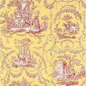 Thibaut Springfield Toile Red on Yellow T6905