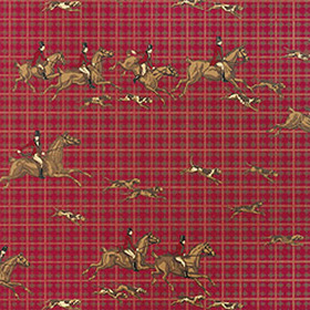 Thibaut Tally-Ho Red T5685