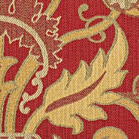 Thibaut Thistle Tapestry Red W74032