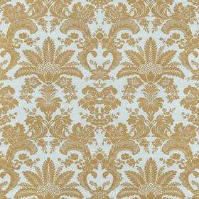 Thibaut West Indies Damask Metallic Gold-Aqua T3629