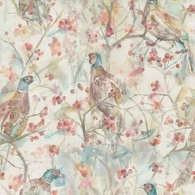 Voyage Blackberry Row Cream Fabric
