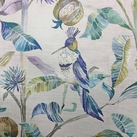 Voyage Colyford Velvet Periwinkle Fabric