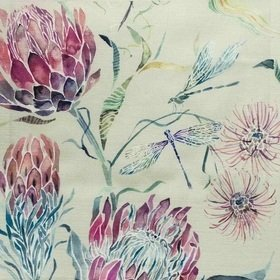 Voyage Moorehaven Loganberry Fabric
