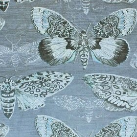 Voyage Nocturnal Velvet Charcoal Fabric