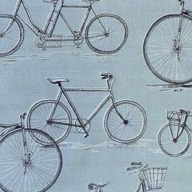 Voyage Penny Farthing Duck Egg Fabric