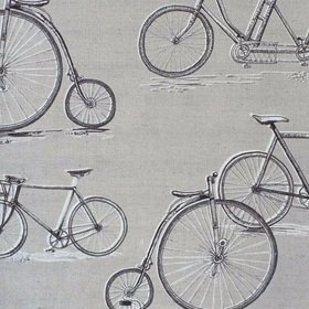 Voyage Penny Farthing Sepia Fabric