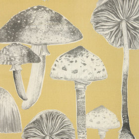 Voyage Toadstools Corn Fabric