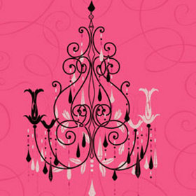 Vymura Chandelier Hot Pink M0380