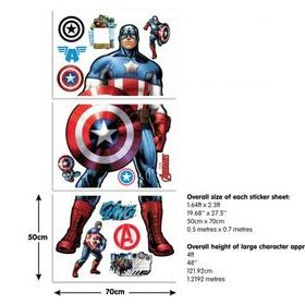 Captain America Sticker Sheets 44272