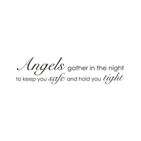 Wall Word Designs Angles gather in the Night 1027