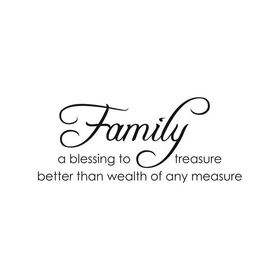 Wall Word Designs Family Treasure 1111S