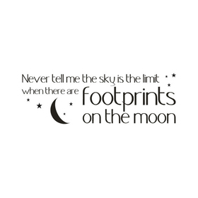 Wall Word Designs Footprints on the Moon 1057