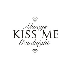 Wall Word Designs Kiss me Goodnight 1090