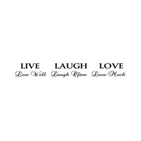 Wall Word Designs Live laugh Love 1011
