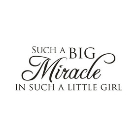 Wall Word Designs Miracle Girl 1091
