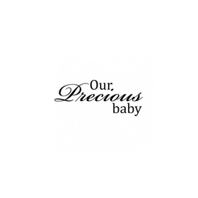 Wall Word Designs Our precious Baby 1021