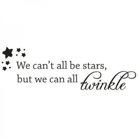 Wall Word Designs We cant all be Stars 1018