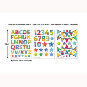 Walltastic ABC Learn With Me Wall Stickers 44920