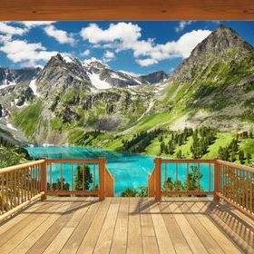 Alpine Mountain Mural 43619