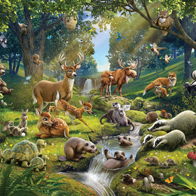 Animals of the Forest Mural 43060