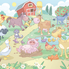 Baby Fun on the Farm Mural 40601