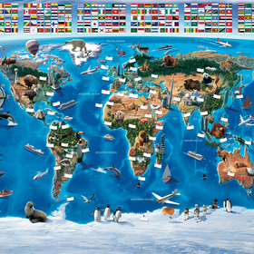 Map of the World Mural 41851