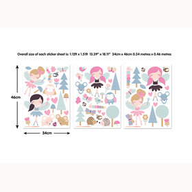 My Woodland Fairies and Friends Wall Stickers 44944