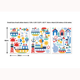 Walltastic Nautical Wall Stickers 44845