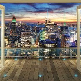 New York Skyline Mural 43558