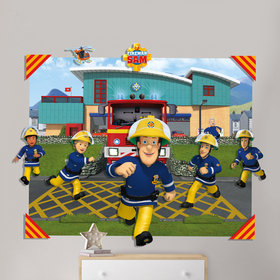 Walltastic Fireman Sam 3D Pop Out Wall Decoration 44609
