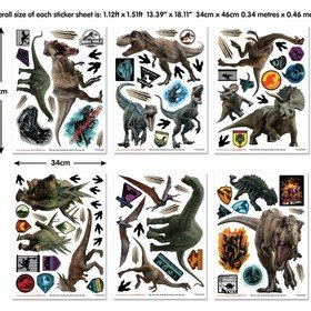 Walltastic Jurassic World Fallen Kingdom 45712