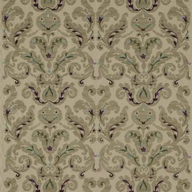 Zoffany Brocatello Embroidery Amethyst-Teal 331215