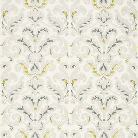 Zoffany Brocatello Embroidery Silver-Linden 331216