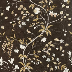 Zoffany Chambalon Trail Antique Gold-Vine Black 312850