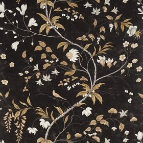 Zoffany Chambalon Trail Antique Gold-Vine Black 322654