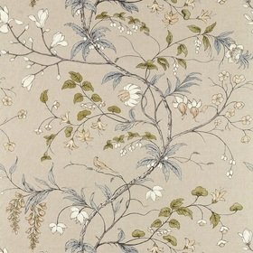 Zoffany Chambalon Trail Mercury-Platinum Grey 322655