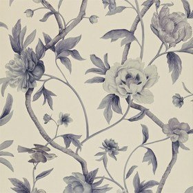 Zoffany Flowering Tree Linen-Midnight ZTRA05002