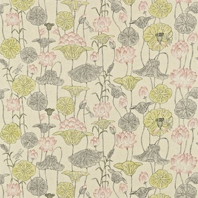 Zoffany Lotus Flower Linen-Coral ZTOW320814