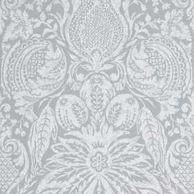 Zoffany Mitford Damask Empire Grey 312864