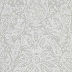 Zoffany Mitford Damask Platinum Grey 312863