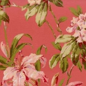 Zoffany Rhododendrons & Lilies Red RPW01006