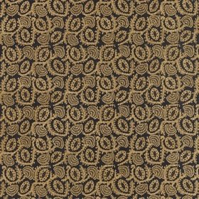 Zoffany Suzani Embroidery Antique Gold-Vine Black 332979