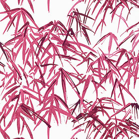 Anna French Kyoto Leaves Fuchsia AT9872
