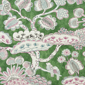 Anna French Tree House Pink-Green AF9866