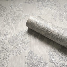 Belgravia Decor Amara Leaf Soft Silver GB7368