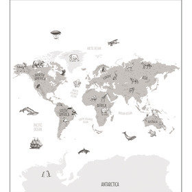 Caselio World Map Noir-Blanc OUP102039918