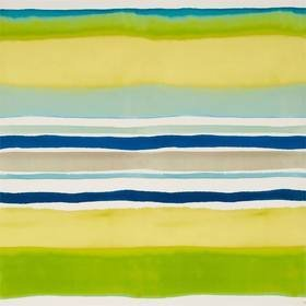 Kim Parker For Clarke & Clarke Sunrise Stripe Aqua-Citrus W0076-01