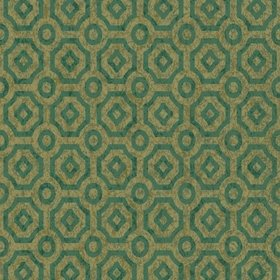 Cole & Son Queens Quarter Emerald-Metallic Antique Gold 118-10021