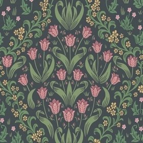 Cole & Son Tudor Garden Plum-Olive Green-Charcoal 118-2003